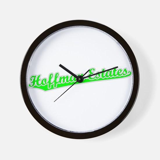 Retro Hoffman Esta.. (Green) Wall Clock