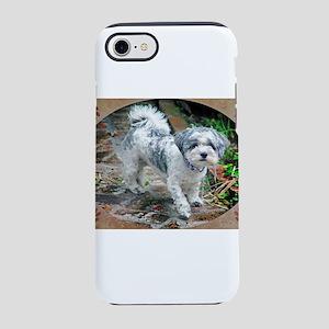 SHIH TZU POODLE PUPPY iPhone 8/7 Tough Case