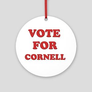 Vote for CORNELL Ornament (Round)