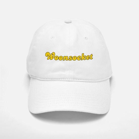 Retro Woonsocket (Gold) Baseball Baseball Cap