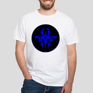 Tribal Medallion - Blue White T-Shirt