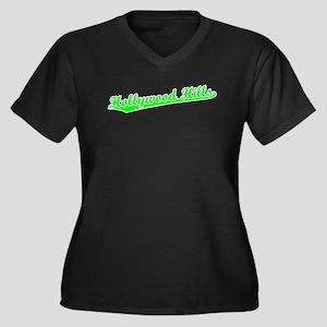 Retro Hollywood Hi.. (Green) Women's Plus Size V-N