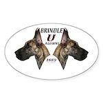 Dagmar's Brindle University Oval Sticker (10 pk)