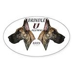 Dagmar's Brindle University Oval Sticker