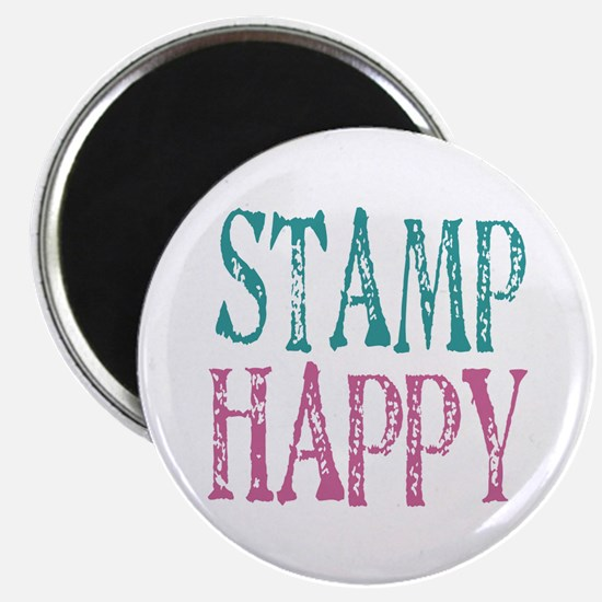 Stamp Happy Magnet