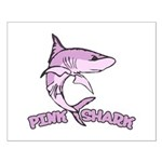 Pink shark Small Poster