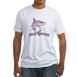 Pink shark Fitted T-Shirt