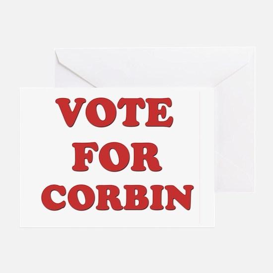 Vote for CORBIN Greeting Card
