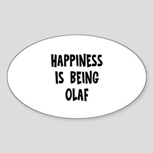 Happiness is being Olaf Oval Sticker