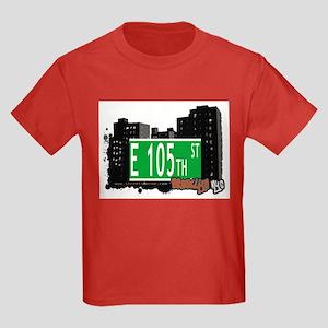 E 105th STREET, BROOKLYN, NYC Kids Dark T-Shirt