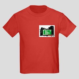 E 86th STREET, BROOKLYN, NYC Kids Dark T-Shirt