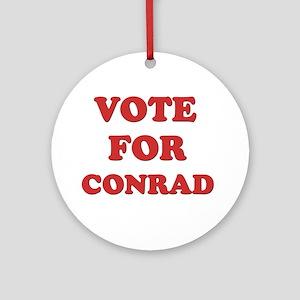 Vote for CONRAD Ornament (Round)