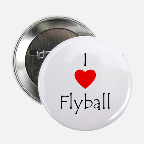 """I Love Flyball 2.25"""" Button"""