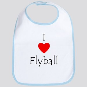 I Love Flyball Bib