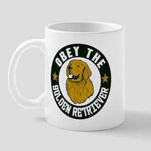 Obey The Golden Retriever Mug