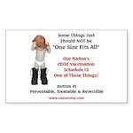 Vaccine, Autism Rectangle Sticker 50 pk)