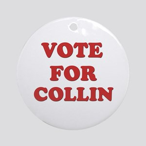 Vote for COLLIN Ornament (Round)