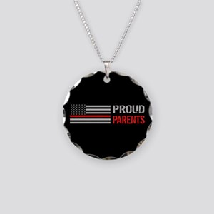 Firefighter: Proud Parents ( Necklace Circle Charm