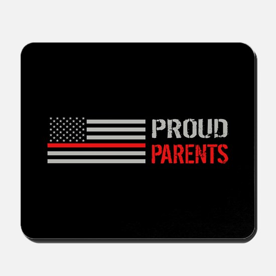 Firefighter: Proud Parents (Black) Mousepad