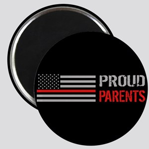 Firefighter: Proud Parents (Black) Magnet