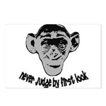 Monkey shirts Postcards (Package of 8)