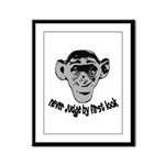 Monkey shirts Framed Panel Print