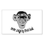Monkey shirts Rectangle Sticker 10 pk)