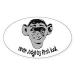 Monkey shirts Oval Sticker