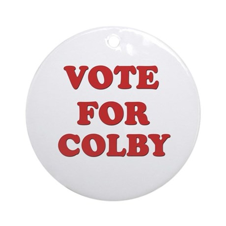 Vote for COLBY Ornament (Round)