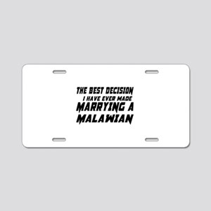 Marrying Malawi Country Aluminum License Plate