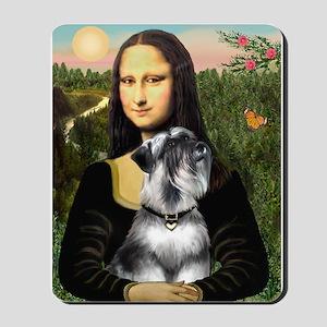 Mona Lisa's Schnauzer (#6) Mousepad