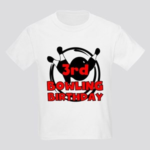 3rd Bowling Birthday Kids Light T-Shirt