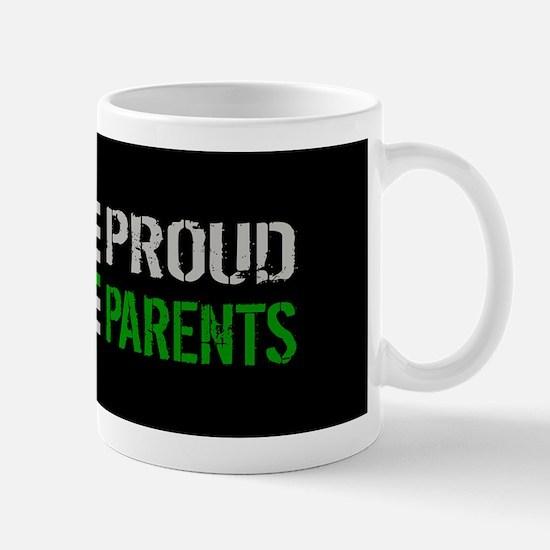U.S. Flag Green Line: Proud Parents (Bl Mug