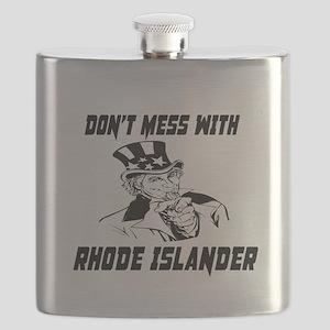 Do Not Mess With Rhode Islander Flask