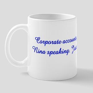 Nina Speaking Mug