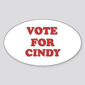 Vote for CINDY Oval Sticker