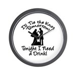 Need a Drink Hen Party Wall Clock