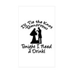 Need a Drink Hen Party Rectangle Sticker 10 pk)