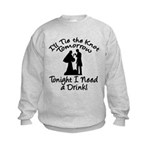 Need a Drink Hen Party Kids Sweatshirt