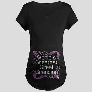 World's Greatest Great Grandma Maternity Dark T-Sh