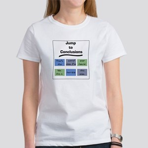 Jump to Conclusions Mat Women's T-Shirt
