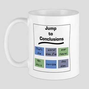Jump to Conclusions Mat Mug