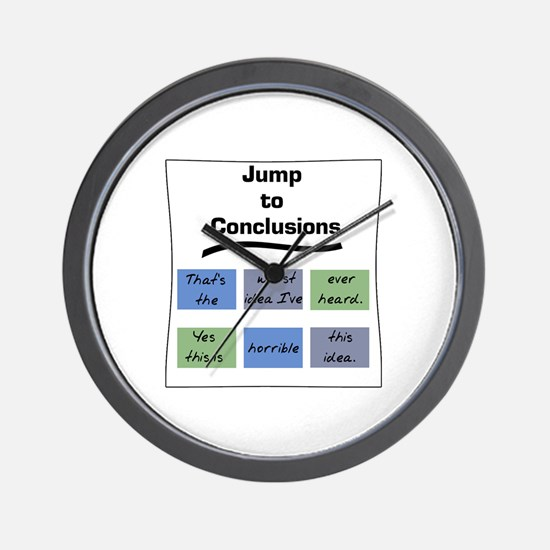 Jump to Conclusions Mat Wall Clock