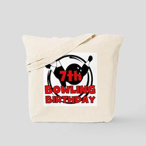 7th Bowling Birthday Tote Bag