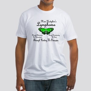 Butterfly Awareness 1 (Non-Hodgkin's) Fitted T-Shi
