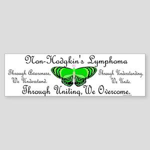 Butterfly Awareness 1 (Non-Hodgkin's) Sticker (Bum