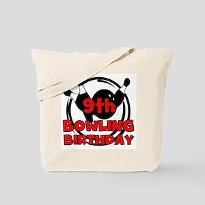 9th Bowling Birthday Tote Bag