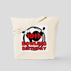 10th Bowling Birthday Tote Bag