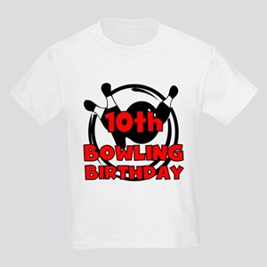 10th Bowling Birthday Kids Light T-Shirt