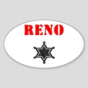 Reno 911 Oval Sticker